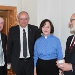 Rozhovor po bohoslužbách (P. Procházka, M. Bünker, J. Křížová, P. Raus)